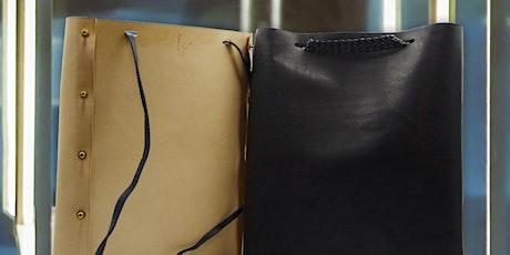 Atelier de confection d'un sac en cuir // Leather bag making workshop billets