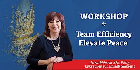 Team Efficiency, Elevate Peace- Workshop tickets