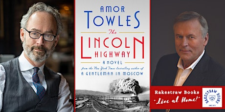 """Rakestraw Books """"Live at Home!"""" with Amor Towles & John Grisham tickets"""
