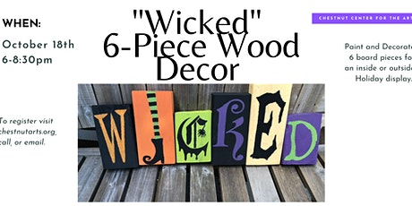 """""""Wicked"""" 6-Piece Wood Décor """"Exploring The Arts"""" For Adults tickets"""