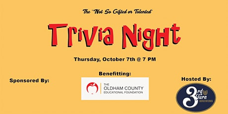 OCEF Not Necessarily Gifted OR Talented Trivia Night tickets