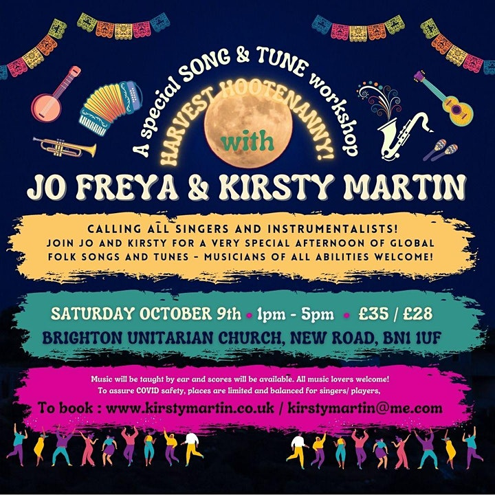 Harvest Hootenanny! song and tune workshop with Jo Freya & Kirsty Martin image