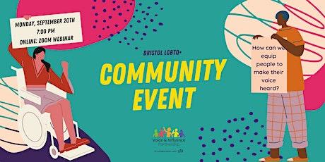 Bristol LGBTQ+ Community Event - your voice, what next? tickets