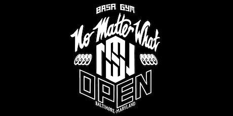 No Matter What Open 2021 tickets