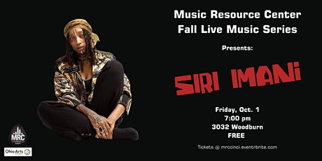 Siri Imani Live at Music Resource Center - Cincinnati tickets