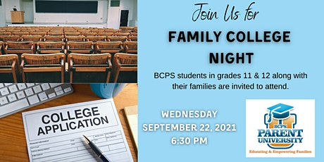 Family College Night - Fall 2021 tickets