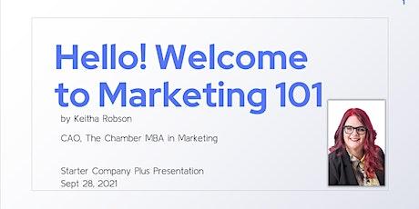 Starter Company Plus: Marketing Strategy Tickets