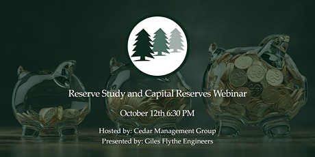 Reserve Study and Capital Reserves Webinar tickets
