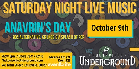 Anavrin's Day : Saturday Night Live Music tickets