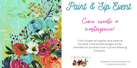 Paint & Sip Event at Tusculum Brewing Company tickets