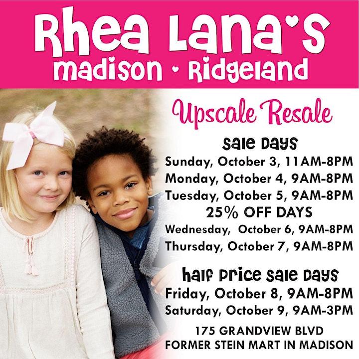 Rhea Lana's of Madison-Ridgeland Fall & Winter Children's Consignment Sale image