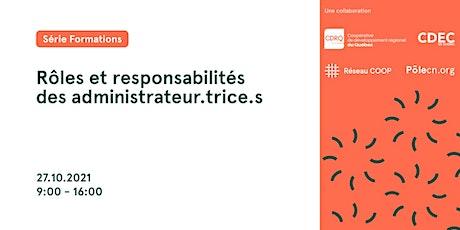 Rôles et responsabilités des administrateur.trice.s billets