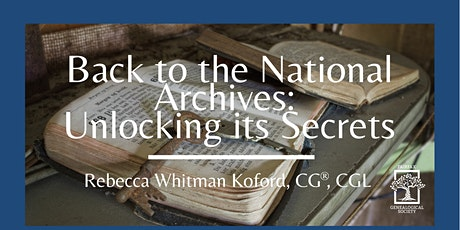 FxGS Virtual Fall Fair: Back to the Archives: Unlocking Its Secrets tickets