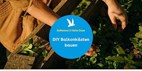Balkonkästen-DIY mit GoNature x Helle Oase tickets