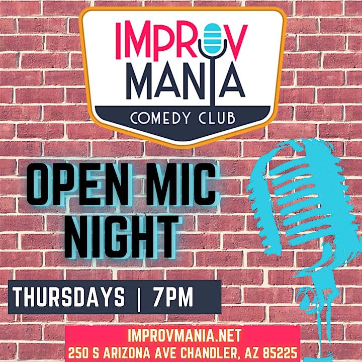 Open Mic at ImprovMANIA 7PM Thursdays image