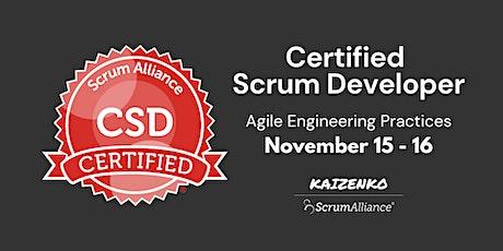 Agile Engineering Practices - Certified Scrum Developer tickets