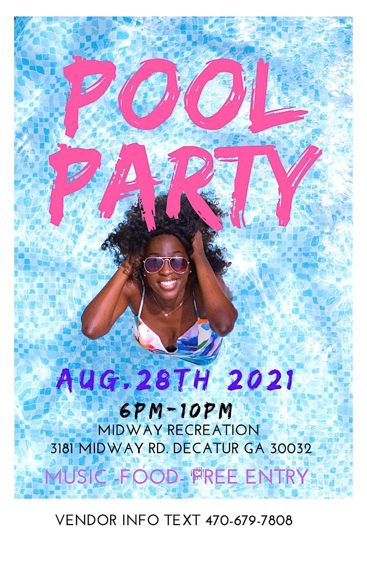 Pool Party & Pop Up Shop image