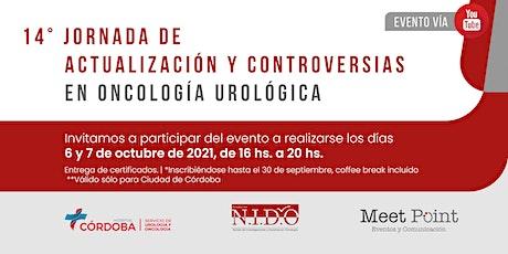 """""""14ª Jornada de actualización y controversias en oncología urológica"""" entradas"""