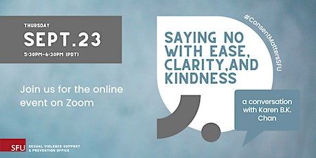Saying no with ease, clarity, and kindness tickets