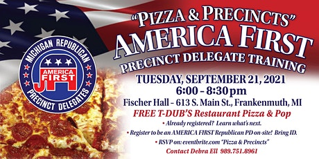 """""""Pizza & Precincts"""" America First Delegate Training tickets"""