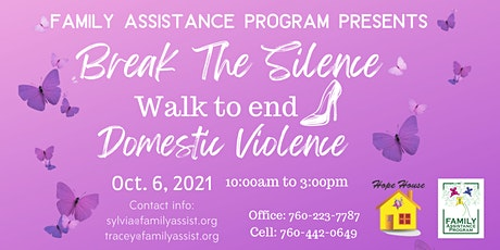 Break The Silence Walk to End Domestic Violence Awareness tickets