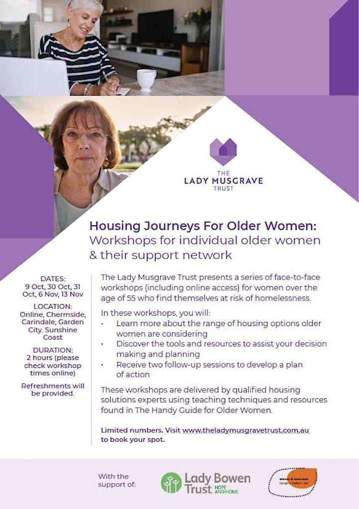 Housing Journeys For Older Women: Chermside Workshop image