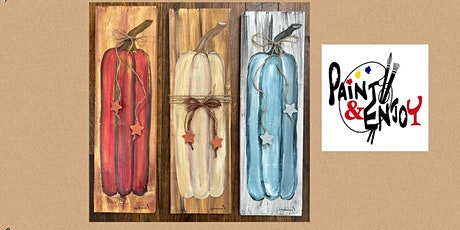 """Paint and Enjoy at Spring Valley Farms  """"Pumpkin"""" on wood tickets"""