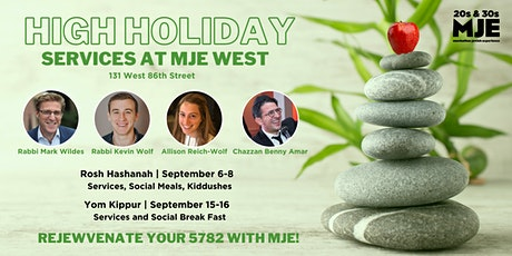 MJE West 20s & 30s High Holidays 2021 Rosh Hashanah Yom Kippur ReJEWvenate! tickets