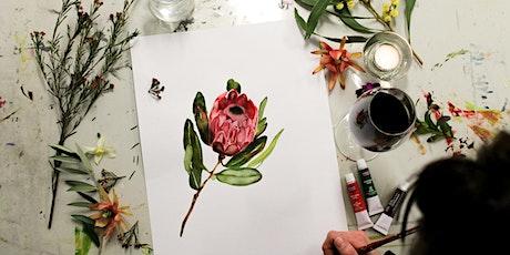 Paint & Sip, Watercolour Seasonal Flowers tickets