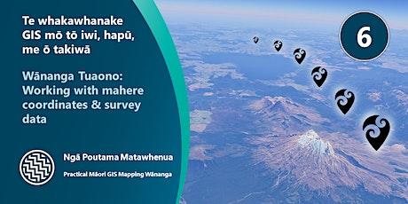 Wānanga Tuaono: Working with Property, Survey and Coordinate data tickets