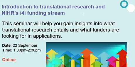 Invention for innovation: an introduction to the NIHR i4i funding programme tickets