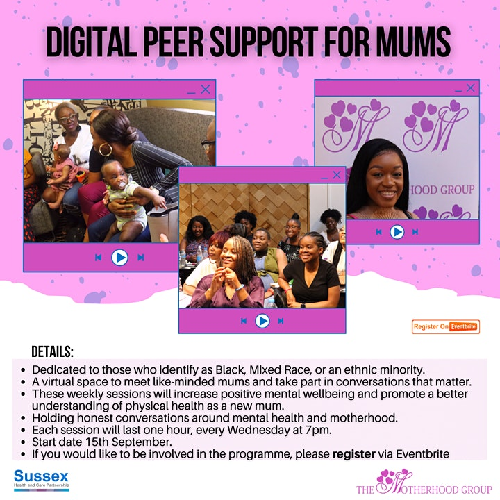 Digital Peer Support for Mums (Sussex) image