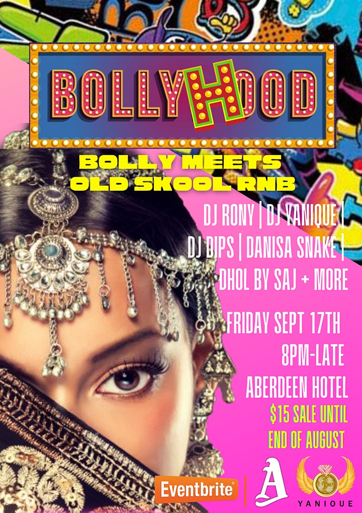 BollyHood! Bolly meets RnB party! image