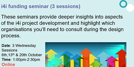 i4i seminar series (over 3 sessions) tickets