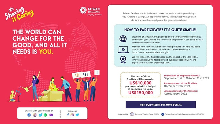 Taiwan Excellence steers social change with SharingIsCaring themed campaign image