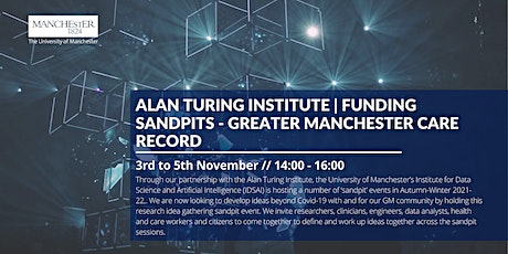 Turing-UoM Sandpits 2021-22: Greater Manchester Care Record tickets