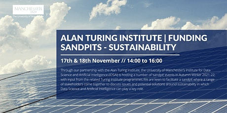 Turing-UoM Sandpits 2021-22: Sustainability tickets