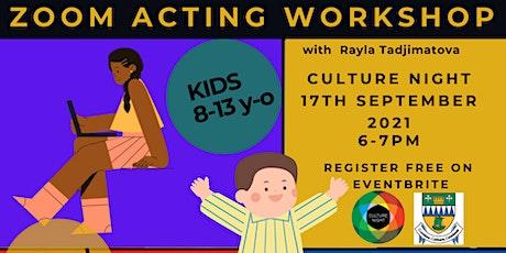 Zoom Acting Workshop Kids tickets