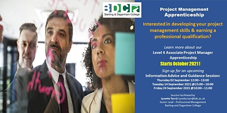 Associate Project Manager Apprenticeship - Information Session tickets