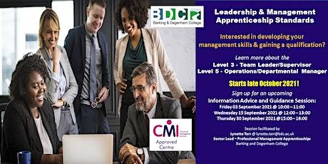 Leadership & Management Apprenticeships Information Session tickets