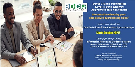 Data Technician & Data Analyst Apprenticeship Programmes tickets