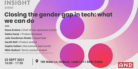 Closing the gender gap in tech: what we can do tickets