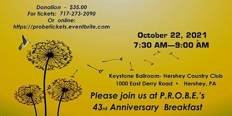 P.R.O.B.E.'s 43rd Annual Breakfast tickets