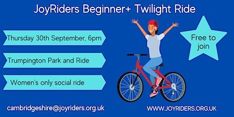 Beginner+ Twilight ride - Trumpington Park and Ride tickets