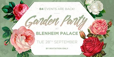 Blenheim Palace & B4 Garden Party tickets