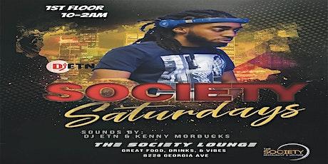 Society Saturdays tickets