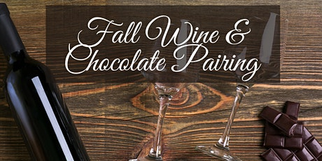 Fall Wine and Craft Chocolate Pairing (Virtual) tickets