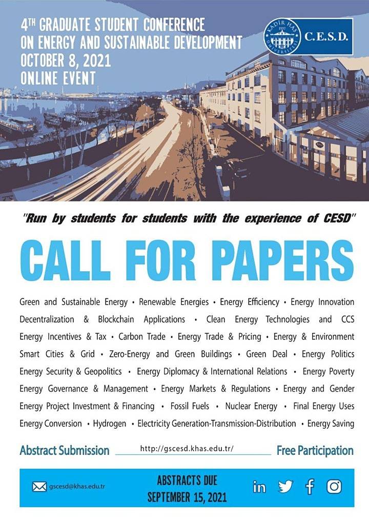 4th Graduate Student Conference on Energy and Sustainable Development image
