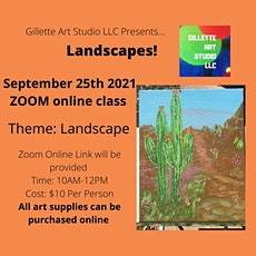 Landscapes Online Painting Class tickets