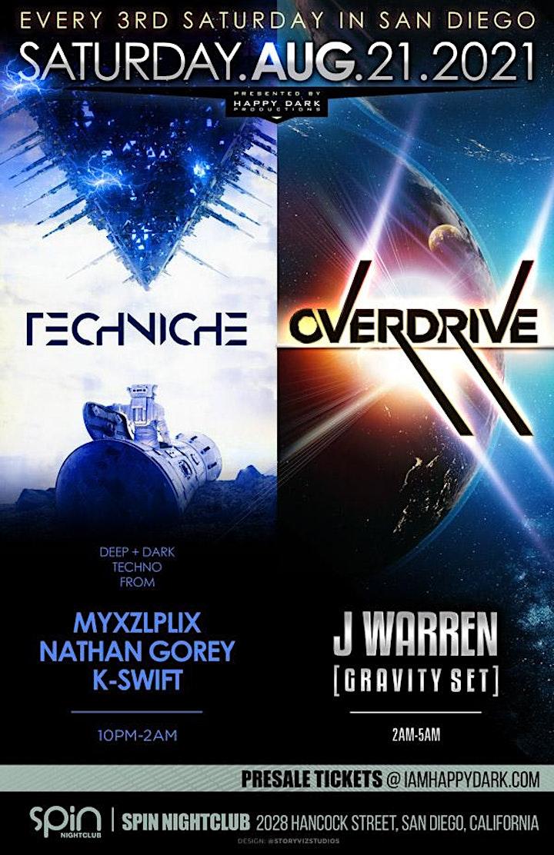 OVERDRIVE with J Warren + Techniche image